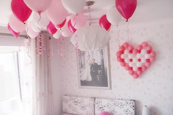 充满粉色浪漫的墙面